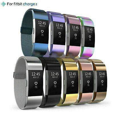 AU8.50 • Buy For Fitbit Charge 2 Band Stainless Steel Metal Milanese Loop Wristband Strap