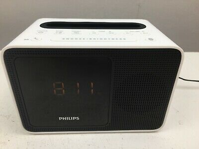 AU33.57 • Buy Philips- AJT5300 - Alarm Clock With Bluetooth - White - Good Condition -