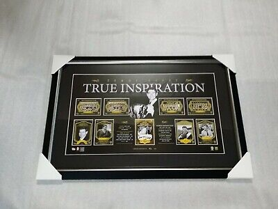 AU175 • Buy Official Afl Richmond Tigers Hand Signed Tommy Hafey Card Print Framed