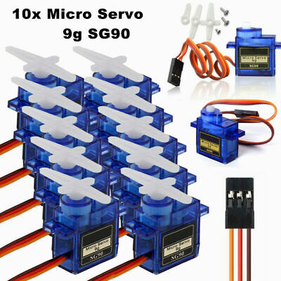 AU3.29 • Buy 10PCS SG90 9G Mini Micro Servo Motor For RC Robot Helicopter Airplane Car Boat L