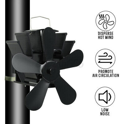 Heat Power Stove Top Fan For Wood Burner Log Burning Fire 4 Blades Wall Mounted • 24.98£