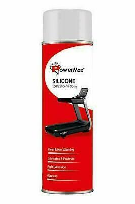 AU36.98 • Buy PowerMax Fitness Silicone Oil Lubricant Spray For Treadmill (500ml)