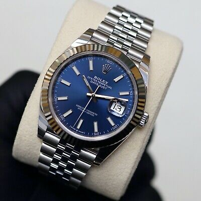 Rolex Datejust 41mm 126334 Blue Baton Dial With Box & Papers 2020 Unworn • 9,350£