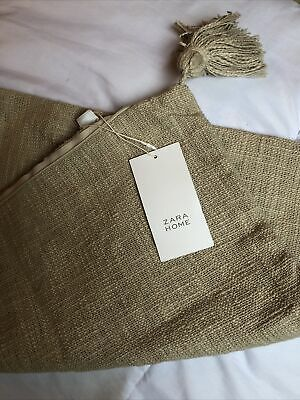Zara Home Brand New Tassel Cushion Cover Beige Cream • 5£