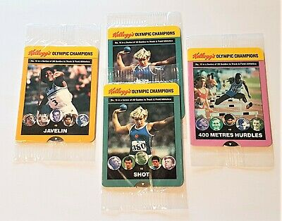 Kellogg 1991 Olympic Champions X 4 Original Sealed Cards • 2.99£