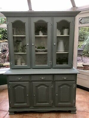 Dresser/Dispay Cabinet In Annie Sloan Duck Egg Painted Shabby Chic • 295£