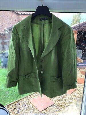 Alex&Co Lined Green 3/4 Sleeve Jacket Size14 • 1.99£