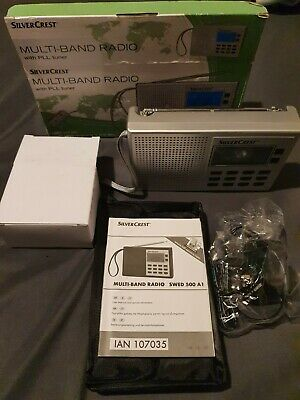 £9 • Buy Silver Crest Multi-Band Radio 4 Band FM/MW/LW/SW  AC Adapter, Case And Strap.