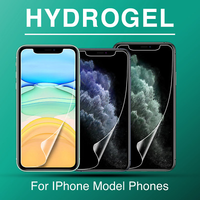 AU4.95 • Buy IPhone 12 Mini 12 Pro MAX 11 7 8 PLUS XR XS Hydrogel Screen Protector For Apple