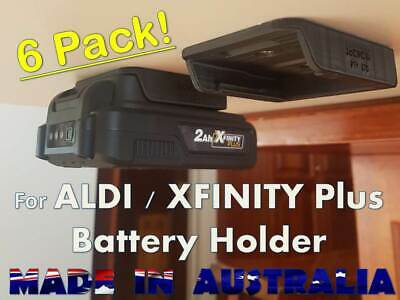 AU21 • Buy 6 X Battery Holder For ALDI / Xfinity PLUS 20V Holder Mount Bracket Storage Work