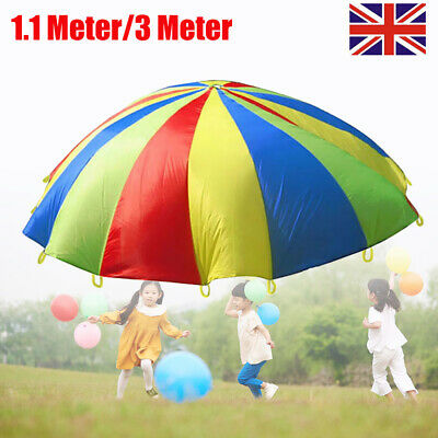 Child Kids Play Parachute Children Rainbow Large Outdoor Game Exercise Sport Toy • 14.11£