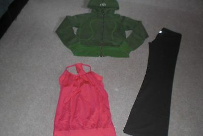 $ CDN68 • Buy   Lot Of Lululemon Luon Groove Pants,  Hoodie And No Limit Tank Top Sz 6