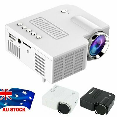 AU47.89 • Buy Mini Portable Pocket Projector HD 1080P LED Home Theater Video Projector USB AV