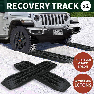 AU68.99 • Buy 2PK Recovery Tracks 10T Sand Tracks Mud Snow Grass Accessory 4WD In Black Colour
