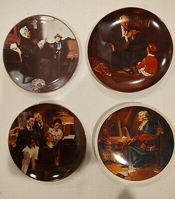 $ CDN2.54 • Buy Norman Rockwell Knowles 4 Plate Collection.