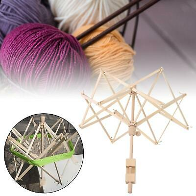 Knitting Umbrella Wooden Swift Yarn Winder Holders For Hanks Skeins Wool Ball • 61.76£