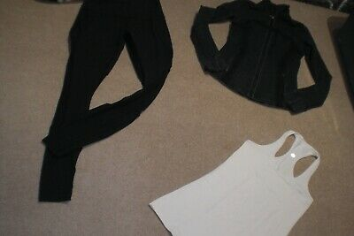 $ CDN89 • Buy  Lot Of Rare Lululemon Tights With Mesh, Define Jacket And Tank Sz 6