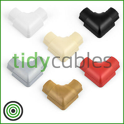 £2.49 • Buy D-Line 30x15 Flat Bend For TV Cable Cover Wire Hiding Trunking (All Colours)