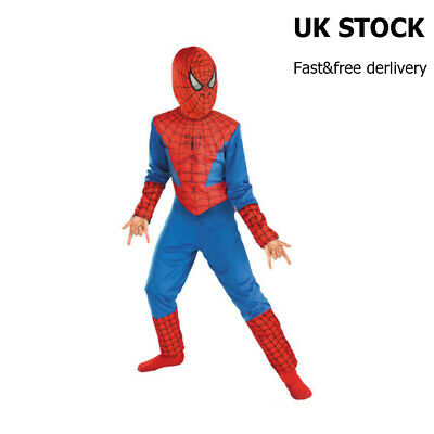 Fancy Dress Outfit Party Costume Halloween UK Seller Boys Super Spider Hero  • 5.99£
