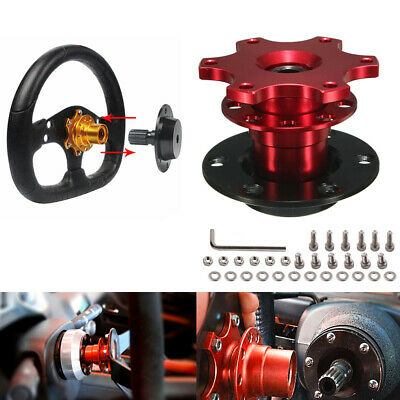 Universal Modified Car Steering Wheel Quick Release HUB Adapter SnapOff Boss Kit • 20.99£