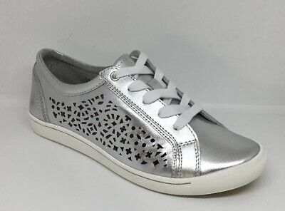 AU60 • Buy Ziera Denver Silver Leather Sneakers Flats Size 40/9 XF Arch Support Like New