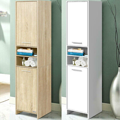 £40.99 • Buy Tall Bathroom Cabinet Cupboard Stand Kitchen Pantry Laundry Storage Unit Shelves