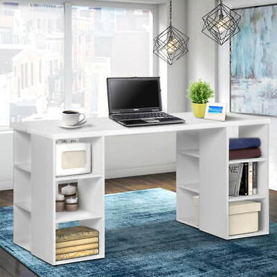 AU153.90 • Buy Artiss Office Computer Desk Study Table Workstation Shelf Storage Bookcase White