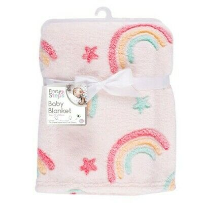 Rainbow Stars Baby Toddler Winter Warm Blanket  • 7.65£