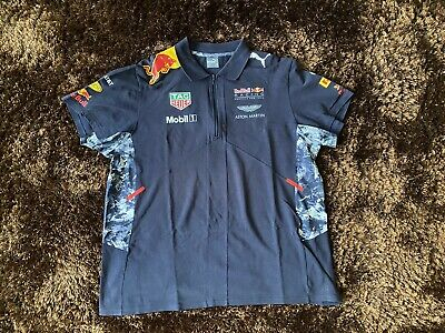 Puma Red Bull Racing Aston Martin Formula One Polo Shirt Size XXL • 25£