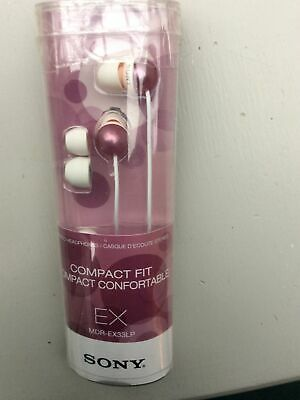SONY MDR-EX33LP Compact Headphones. Brand New. Pink Comes With 3 Sizes Earpuds • 6£