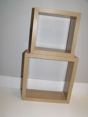 Light Oak Floating Cube Shelves Shelf X 2  (from NEXT) Cost £25 Grab A Bargain ! • 8£