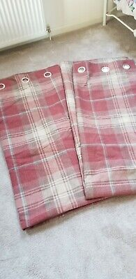 Next Stirling Red Curtains 53  X90  Drop • 21£
