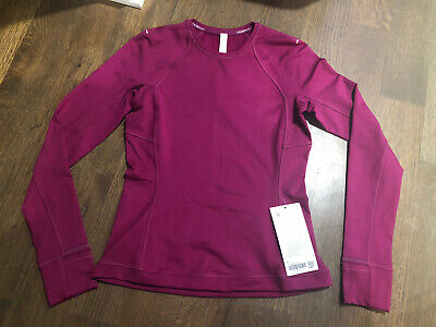$ CDN100.80 • Buy NWT Lululemon Runderful Long Sleeve Brushed Fleece* Size 6 Deep Fuschia DFUS $88