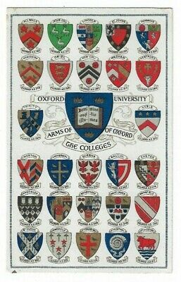 Oxford University, Arms Of Oxford, The Colleges, Postcard.   • 2£