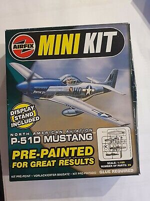 Airfix Mini Kit North American Aviation  P-51D Mustang Scale 1:100. Box Unopened • 1.80£