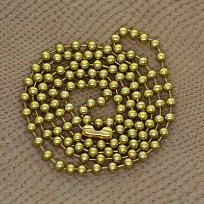 1Strand Brass Round Beads Ball Chain Connecor For Jewelry Making 32inch • 3.16£