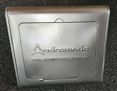 RARE! Andromeda Complete Series 1-5 DVDs In Limited Edition Triangular Tin Box • 75£