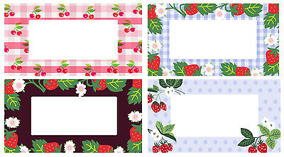 96 Fruity Jam Jar Labels Assorted Designs Self-adhesive Jellies Preserves • 3.50£
