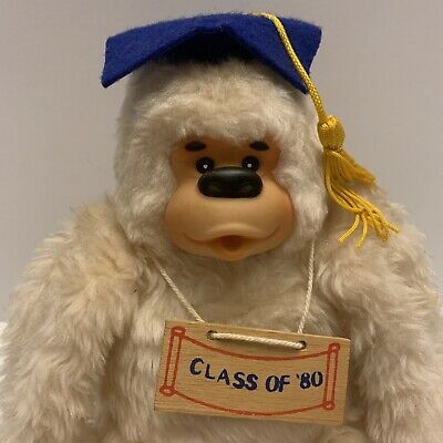 $ CDN15.66 • Buy Vintage Russ Gonga Thumb Sucking Monkey Class Of '80 Graduation Cap Plush Ape