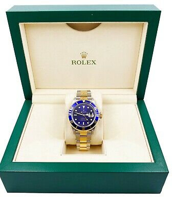 $ CDN12015.91 • Buy Rolex 16613 Submariner Blue Dial 18K Yellow Gold Stainless Steel