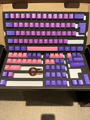 Ducky PBT Double Shot Ultra Violet Keycaps (UK LAYOUT) • 45£