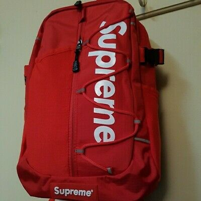 $ CDN140.35 • Buy Red Supreme Backpack Ss17 - Brand New Fast Shipping!