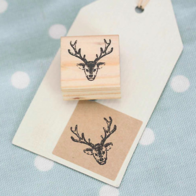 BRAND NEW East Of India Stag Wooden Rubber Stamp Craft / Scrapbooking • 1.50£