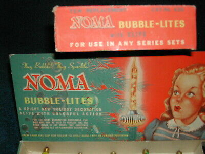 $ CDN12.64 • Buy VINTAGE Cat.no.420 WORKING REPLACEMENT NOMA BUBBLE LITES IN ORIGINAL With Clips