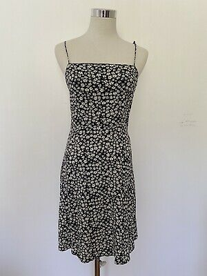AU20 • Buy MANGO Black Floral Mini Dress Size S