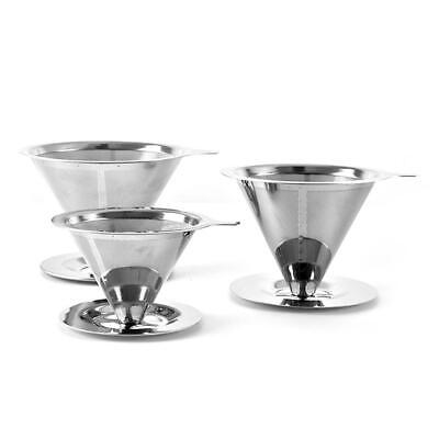 AU13.43 • Buy Stainless Steel Coffee Filter Double Layer Fine Drip Filters V60 Filter Cup