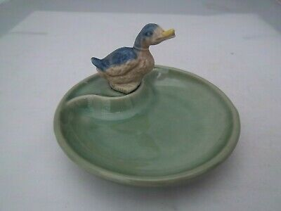 WADE LIGHT GREEN WHIMTRAY - ENGLISH WHIMSIE DUCK - C1985  (REFS 47/23) • 3.99£