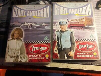 Captain Scarlet And The Mysterons 3 & 4 Dvd Gerry Anderson/vintage/retro • 5£