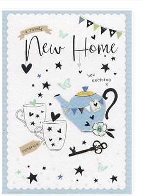 New Home Card Foiled Teapot & Mugs    Quality Card By IC&G 8465  FREE P&P • 2.99£