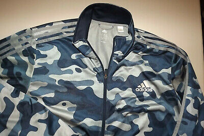 $ CDN28.60 • Buy ADIDAS BLUE CAMO SIZE XL  Men's FULL ZIP Jacket T968
